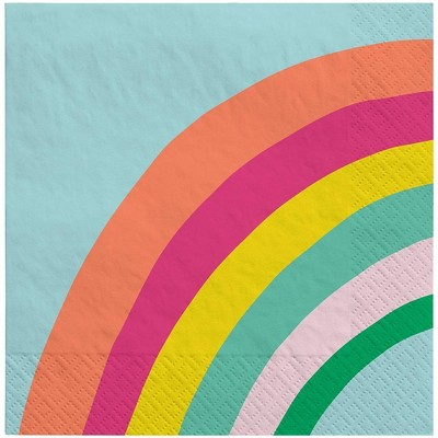 30ct Lunch Napkin Rainbow - Sun Squad™