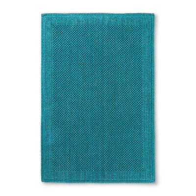 Performance Textured Bathtub And Shower Mats Turquoise - Threshold™