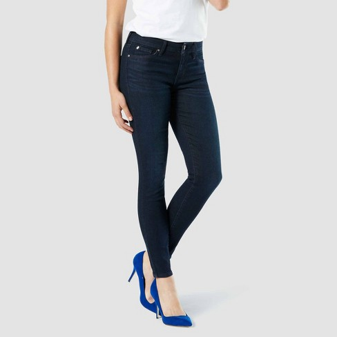 lid To the truth to continue  DENIZEN® From Levi's® Women's Mid-Rise Skinny Jeans - Blue Empire 2 Short :  Target