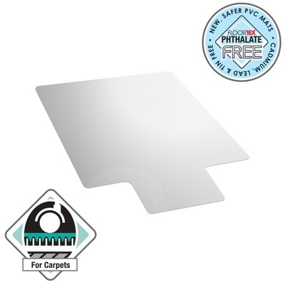 Vinyl Chair Mat for Carpets Lipped Clear - Floortex
