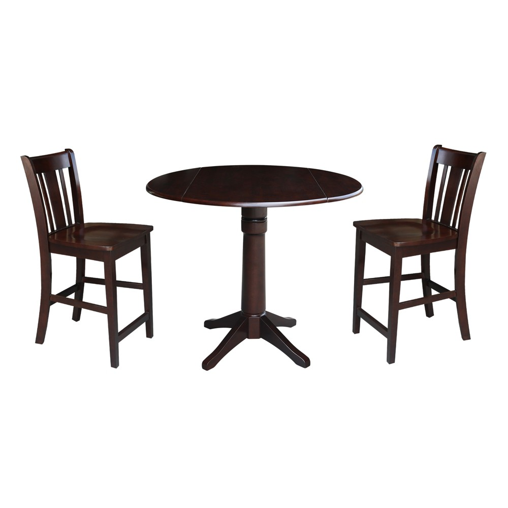 363 Thomas Round Pedestal Gathering Height Table With 2