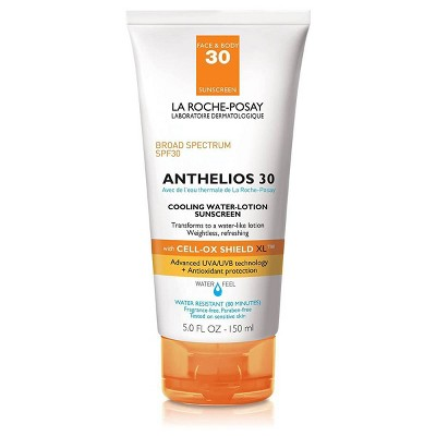 La Roche-Posay Anthelios Cooling Water-Lotion Face and Body Sunscreen SPF 30 - 5.0oz