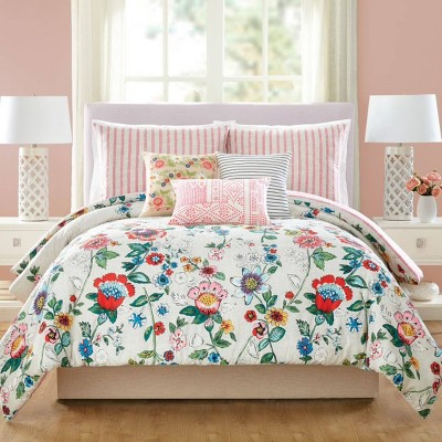 3pc Coral Floral Comforter Set - Vera Bradley