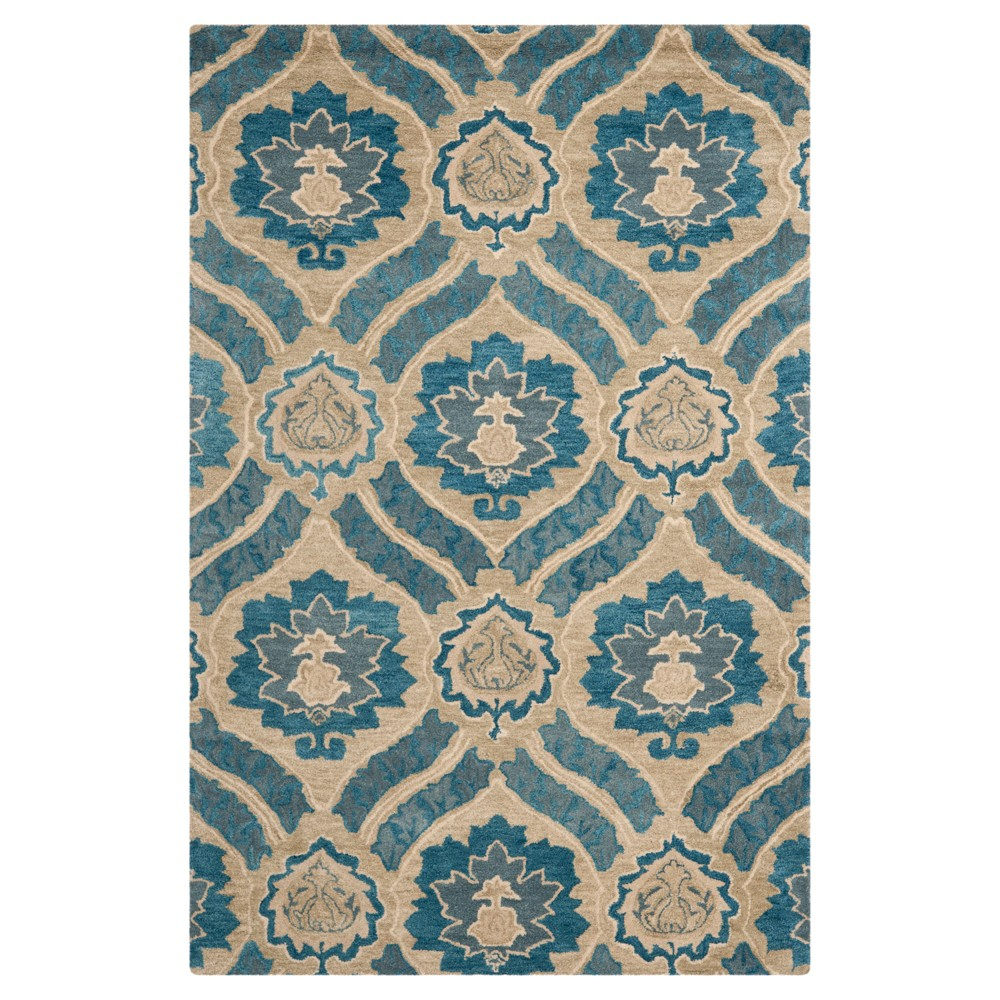 Blue/Gray Abstract Tufted Area Rug - (6'X9') - Safavieh
