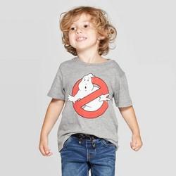 Toddler Boys' Ghostbusters Logo Short Sleeve T-Shirt - Gray