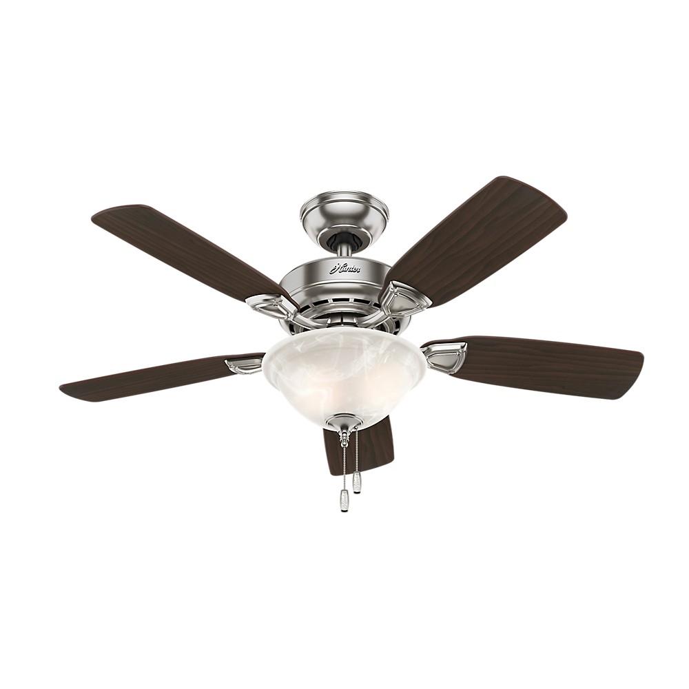 """Image of """"44"""""""" LED Caraway Five Minute Fan Lighted Ceiling Fan Brushed Nickel - Hunter Fan"""""""