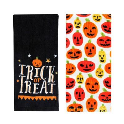 Halloween Pumpkins Hand Towel 2pk - Hyde and Eek! Boutique™