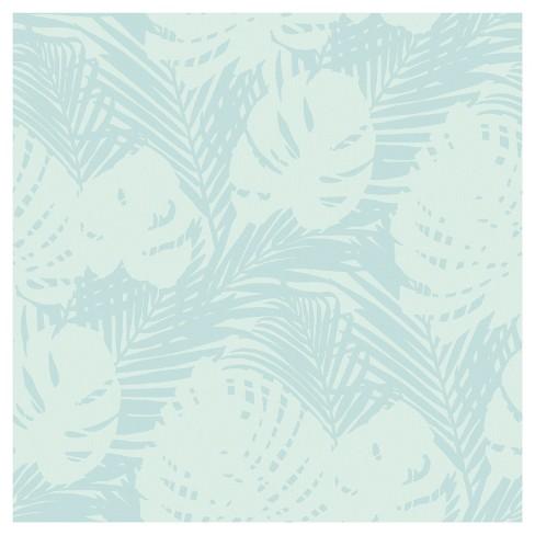 Devine Color Tropical Leaves Peel Stick Wallpaper Target
