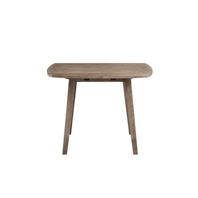 Boulder Extendable Dining Table Wire Brush Barnwood Brown - Boraam