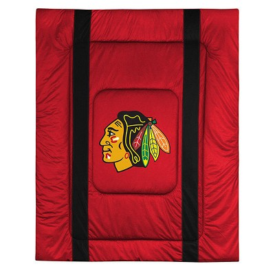NHL Chicago Blackhawks Comforter Sidelines Hockey Bedding