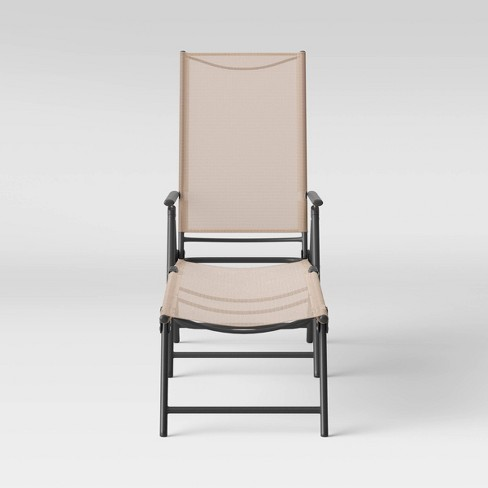 Sling Patio Lounger Tan Room