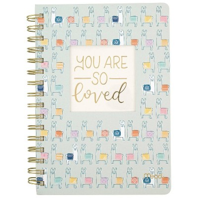 Mead Hard Cover Lined Journal Llamas Multicolor