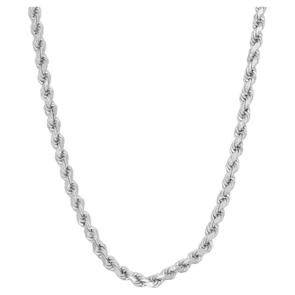 Tiara Sterling Silver 20 Rope Chain Necklace, Size: 20 inch, White
