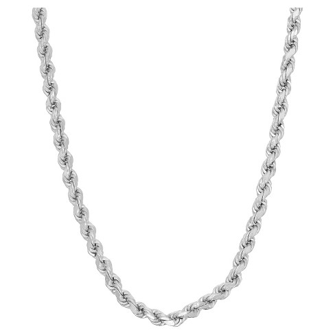 Tiara Sterling Silver Rope Chain Necklace - image 1 of 1