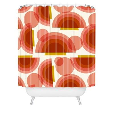Heather Dutton Spectrum Shower Curtain Red - Deny Designs