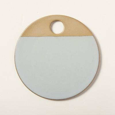 Round Exposed Stoneware Serve Board Light Blue - Hearth & Hand™ with Magnolia