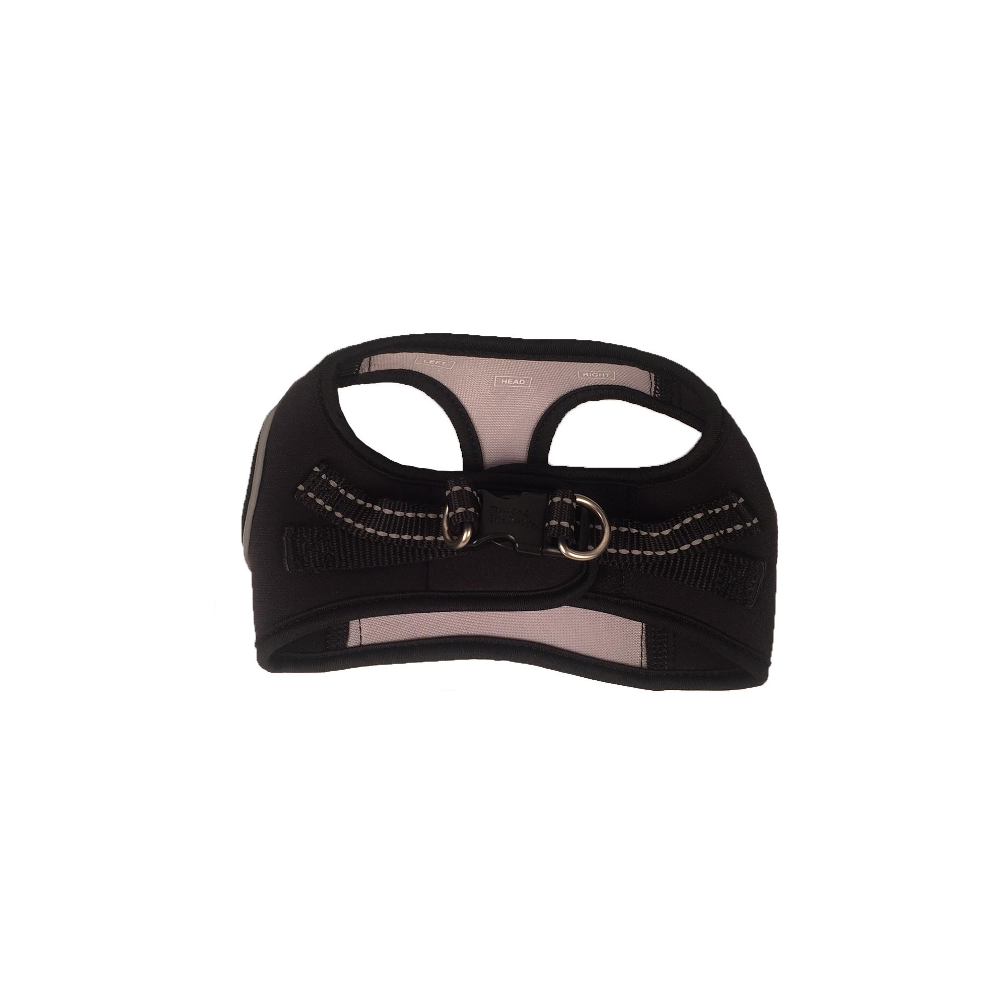 Ultimate Comfort Dog Harness - Black/Grey - XS - Boots & Barkley, Black Gray
