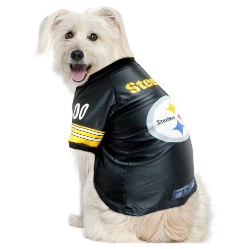 best website 397c3 580e1 Pittsburgh Steelers Little Earth Pet Premium Football Jersey - Black 4XL