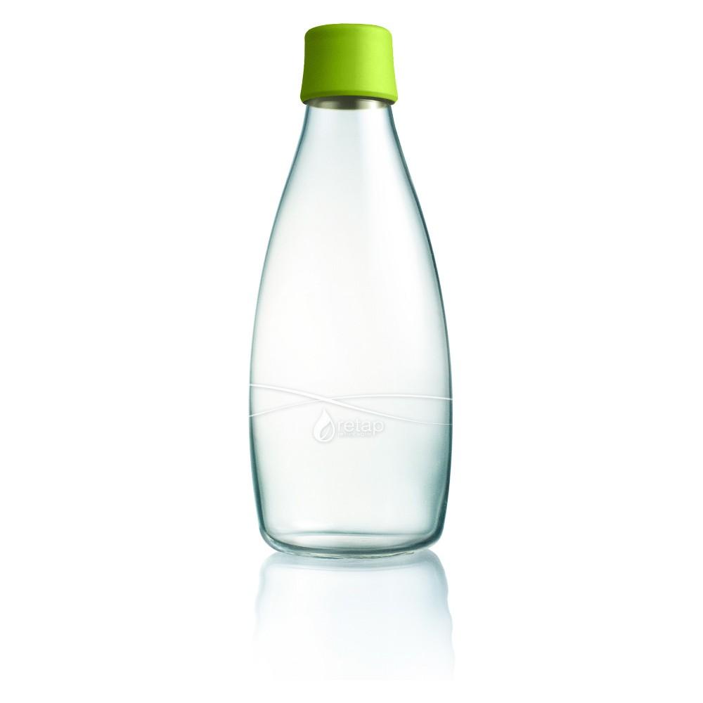 Retap Glass Water Bottle 27oz - Bright Green