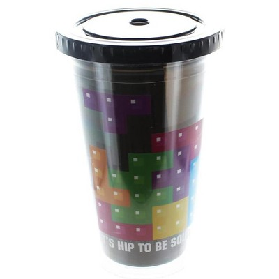 """Funky People Tetris """"Hip To Be Square"""" 16oz Travel Cup"""