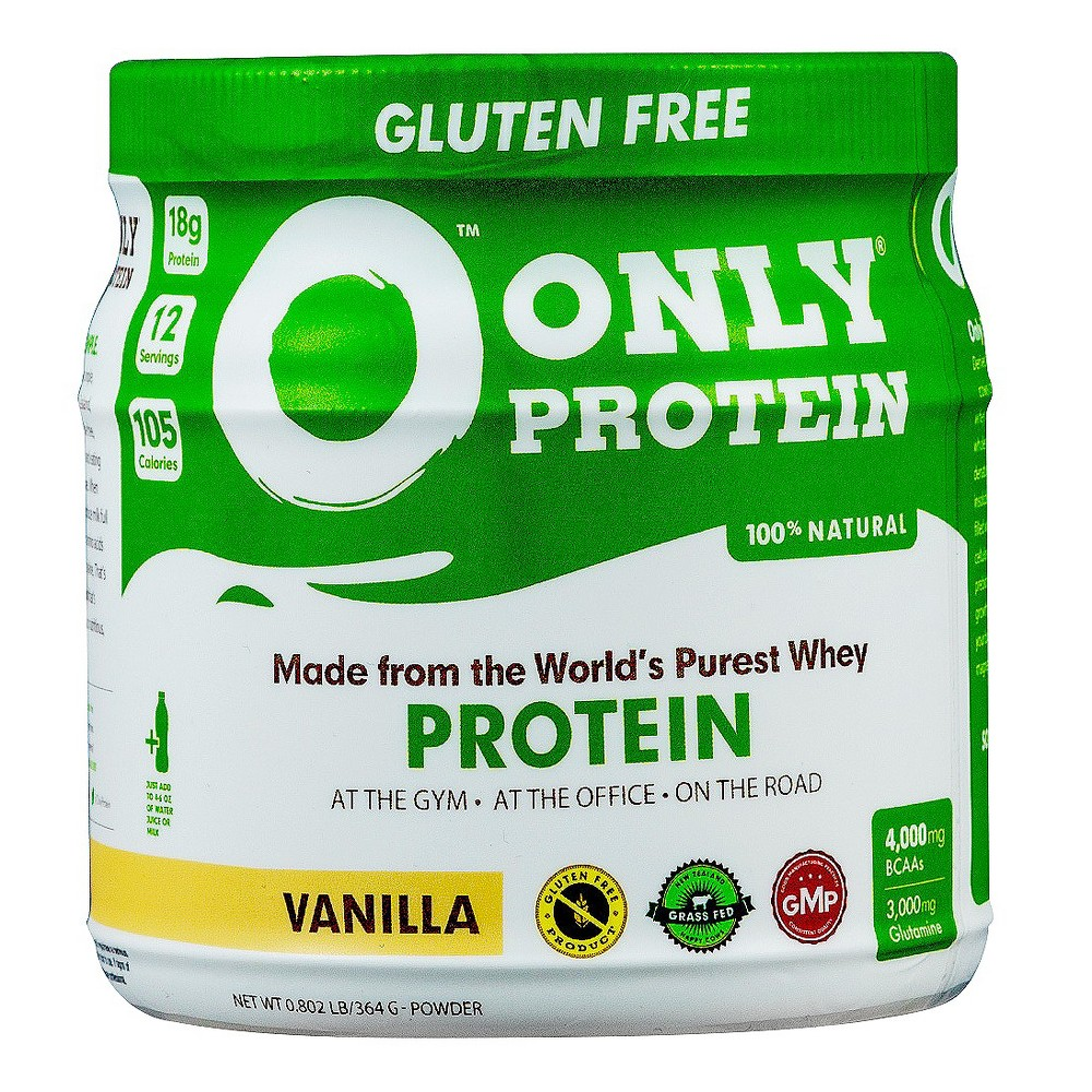 Only Protein Whey Meal-Replacement Protein Powder - Vanilla - 0.8lb Only Protein's Grass-fed, Micro cold-filtered, Raw New Zealand Whey Protein Powder is designed to fuel your body with 18 grams of clean Raw protein per serving, essential branch chain amino acids, and vitamins, without Any Harmful Ingredients. Our Protein Powder jugs contain 12 servings of Only Protein whey Protein powder. Only Protein contains branch chain amino acids including Isoleucine, Leucine and Valine. Our best-rated protein powder mixes easy and taste great! Just rip and pour! Only Protein contains NO artificial sweeteners such as aspartame, Acesulfame potassium, or sucralose. Only Protein contains no hydrolyzed protein and no cellulose fibers. Many products on the market contain inexpensive cellulose fibers, which cannot be broken down; over time, cellulose fibers actually inhibit nutrient absorption. Only Protein contains fibers that can be eliminated without building up in your system. Only Protein also contains Inulin, which is a prebiotic that increases your body's friendly bacteria. Poor protein metabolism:Many people have poor protein metabolism. Only Protein has added Protease, the enzyme that breaks protein down. This is to ensure maximum absorption, and, for those that are lactose intolerant, the enzyme Lactase has been added. Competing products claim to be healthy; however, turning over the ingredients panel tells another story. We formulate our product to be clean and organic, free of pollutants, trace antibiotics, and pesticides. We also want to ensure that absolutely no harmful ingredients are included in our formula. Our goal is to provide you with a product that is truly nutritious and convenient no matter what your lifestyle. I would change this to What's IN and What's Out like on our packaging.Only Protein Contains: Gender: Unisex. Age Group: Adult.