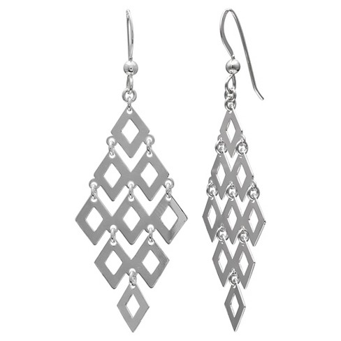 "Graduated Kite Earrings in Sterling Silver - Silver (2.5"") - image 1 of 1"