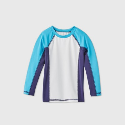 Toddler Boys' Colorblock Long Sleeve Rash Guard - Cat & Jack™ Blue/White/Purple 2T