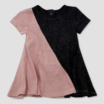 a62406933 Baby Girls' Afton Street Short Sleeve Colorblock A Line Dress - Pink  Heather ...
