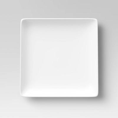 """11"""" Porcelain Square Dinner Plate White - Threshold™"""