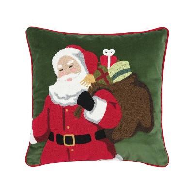 """C&F Home 18"""" x 18"""" Santa Delivery Chain Stitch Pillow"""