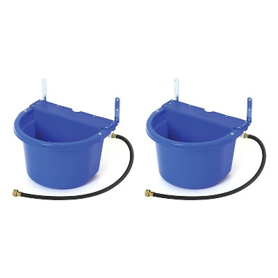 Little Giant FW16BLUE 4 Gal Auto Float Controlled Waterer Livestock (2 Pack)