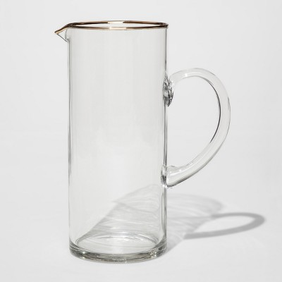 Glass Cocktail Pitcher - 10'' x 4.25'' - Threshold™