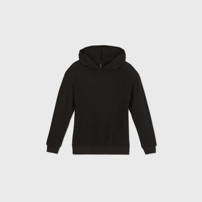 Girls' Brushed Tunic Hoodie - art class™ Black