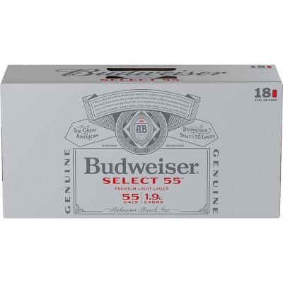 Budweiser Select 55 Beer - 18pk/12 fl oz Cans
