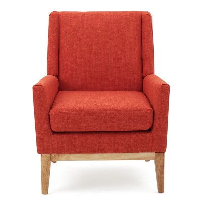 Aurla Accent Chair Muted Orange - Christopher Knight Home