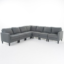 Zahra 7pc Sectional Couch - Christopher Knight Home