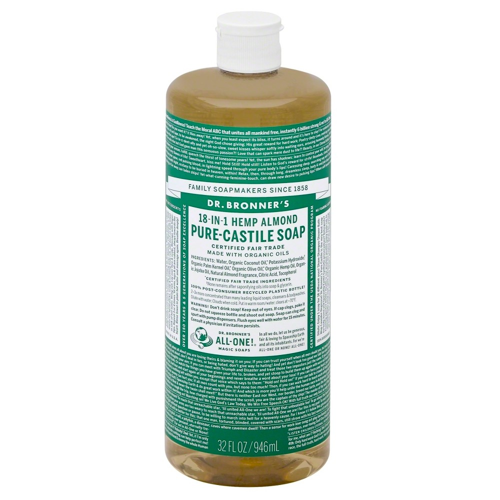 Dr. Bronner's Pure Castile Soap - Almond (32 oz.)