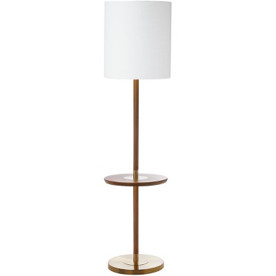 """65"""" Janell End Table Floor Lamp Brown (Includes CFL Light Bulb) - Safavieh"""