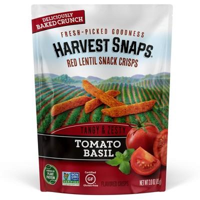 Harvest Snaps Red Lentil Snack Crisps Tomato Basil - 3oz