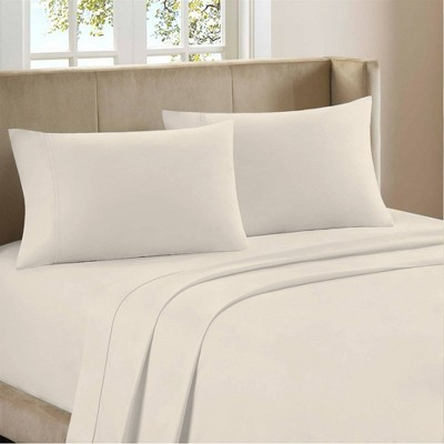Queen 1200 Thread Count Cotton Rich Sateen Sheet Set White - Color Sense