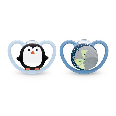 NUK Space Orthodontic Pacifier 0-6 Months - 2pk