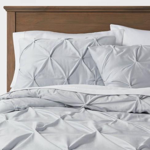 King Pinch Pleat Comforter Sham Set, Target Gray Bedding Sets
