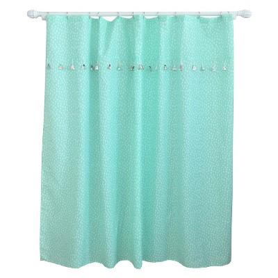 Tassel Shower Curtain Aqua Pool - Pillowfort™