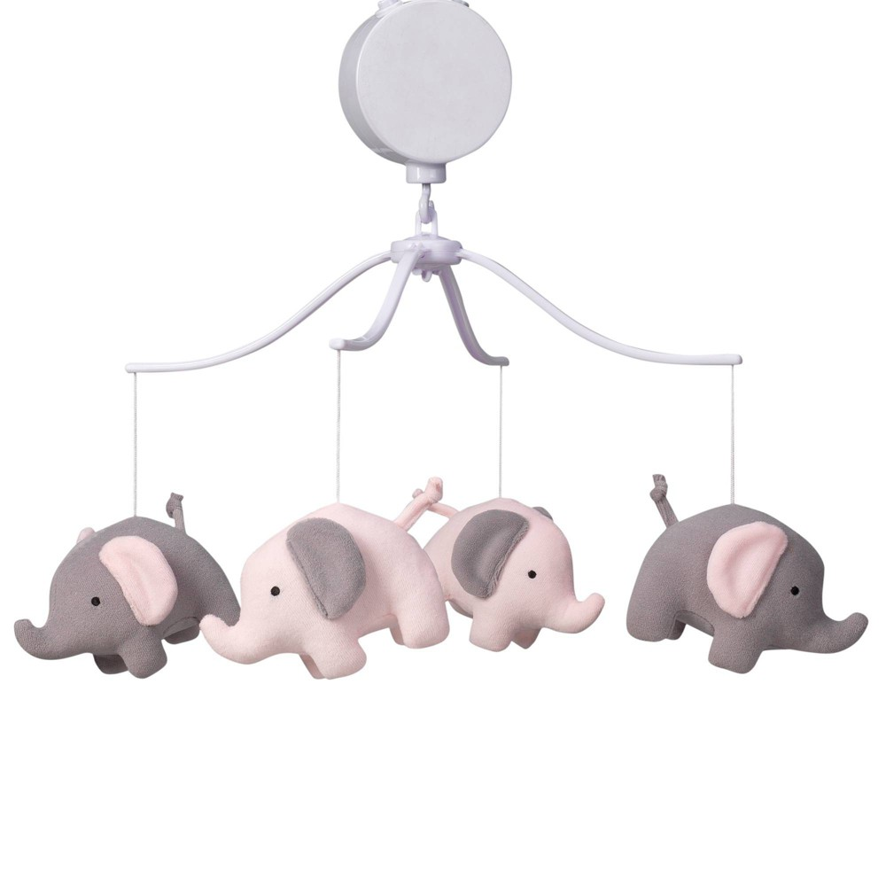 Image of Bedtime Originals Musical Baby Crib Mobile - Eloise Elephant, Infant Girl's