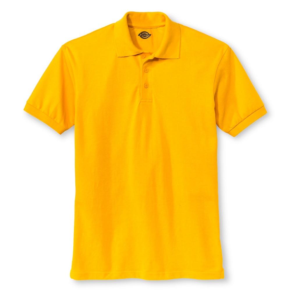 Dickies Men's Pique Uniform Polo Shirt - Gold XL