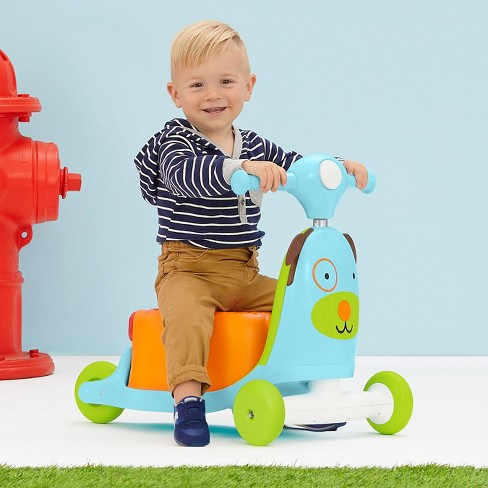 Skip Hop Kids 3-in-1 Ride On Scooter and Wagon Toy - Dog