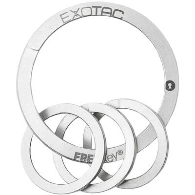 Exotac FREEKey Slim System Easy to Use Key Ring and Three Mini Key Rings