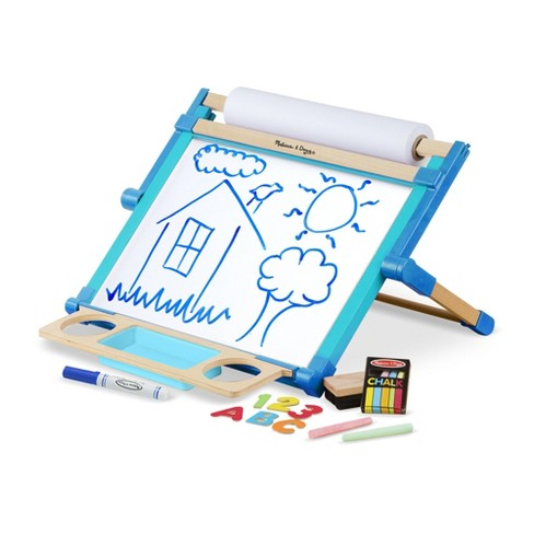 Melissa & Doug Double-Sided Magnetic Tabletop Art Easel - Dry-Erase Board and Chalkboard - image 1 of 4