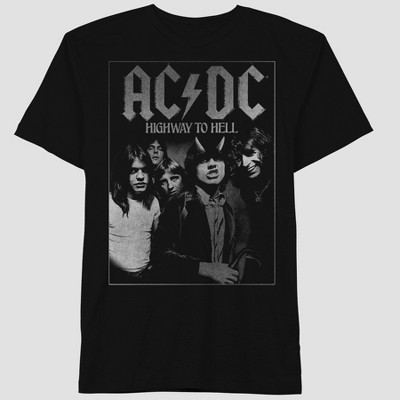 Men's AC/DC Short Sleeve Graphic Crewneck T-Shirt - Black