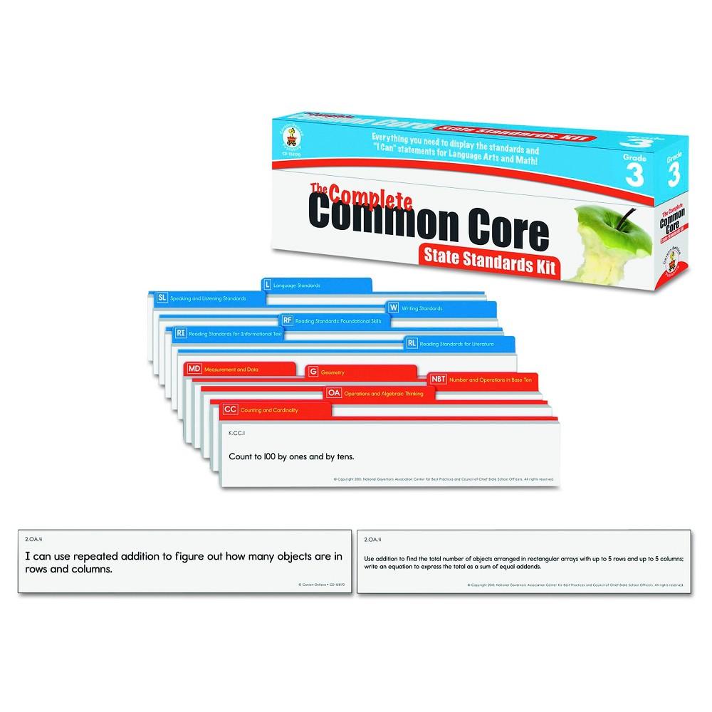Carson-Dellosa Publishing Common Core State Standard Pocket Chart Cards, Language Arts & Math, Grade 3, Multi-Colored